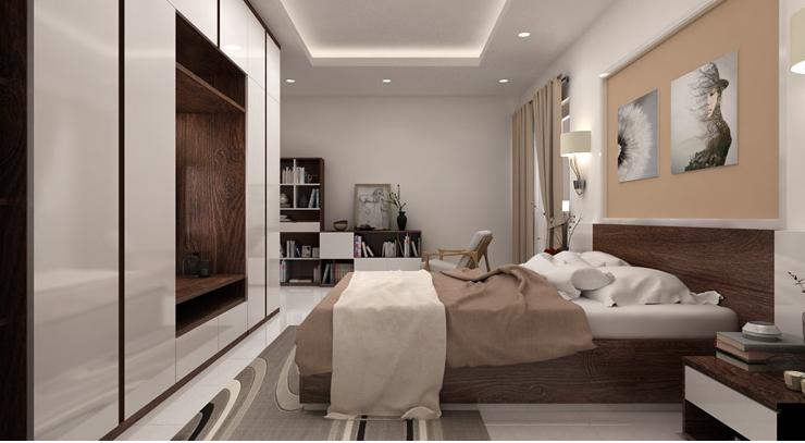 Mẫu phòng ngủ dành cho ông bà - Nội thất Thu Anh